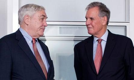Conrad Black (left) and Jonathan Aitken