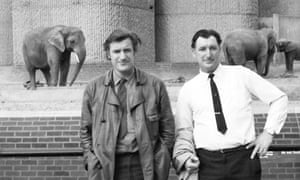 Ted Hughes and his older brother, Gerald, at London zoo in 1970.
