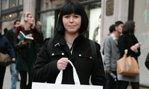 Rhiannon Adams at the Margiela for H&M launch