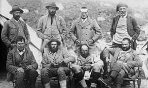 Charles Howard Bury (second left, standing)