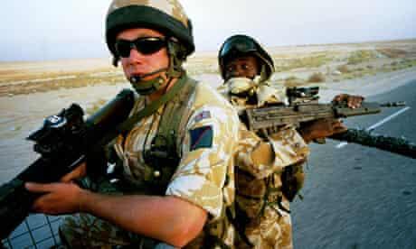 British troops in Iraq, 2004.