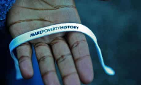 make poverty history wristband