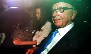 Rupert Murdoch, Wendi Deng at Leveson