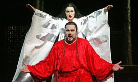 Georgina Lukacs and Ben Heppner in <em>Turandot</em>
