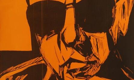 Julian Maclaren-Ross, from a print by Marc Glendening