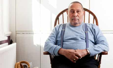Stuart Hall, cultural theorist, at home in London