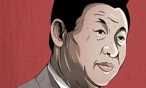 Xi Jinping profile illustration for the Guardian