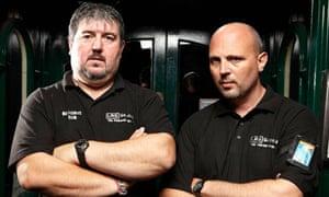 Len Harrhy and Richard Davis in Channel 4's Bouncers