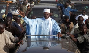 Senegal's incumbent President Wade attends a campaign rally in Dakar