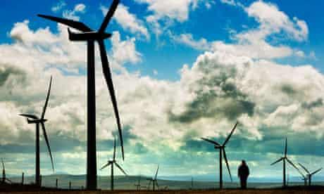 Whitelee windfarm outside Glasgow