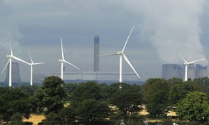 Windfarm next to Drax power station