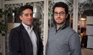 Nathan Englander (left) and Jonathan Safran Foer