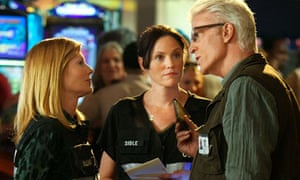 Marg Helgenberger, Jorja Fox and Ted Danson in CSI
