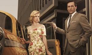 Betty Draper (January Jones) and Don Draper (Jon Hamm) in Mad Men.