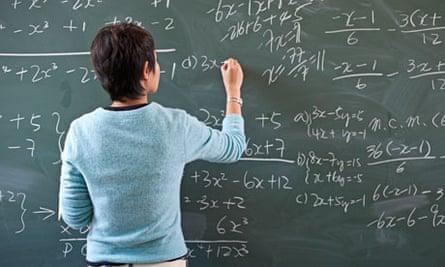 maths teacher at blackboard