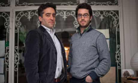 Nathan Englander, left, and Jonathan Safran Foer.