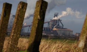 Steelworks at Redcar, northern England