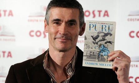 Andrew Miller with his book 'Pure'