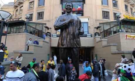 Mandela statue in Mandela Square david smith letter from africa