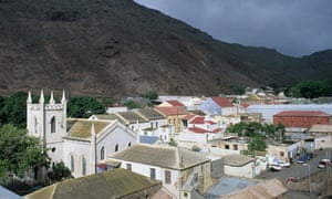 Jamestown, capital of remote Atlantic Ocean isalnd of St Helena