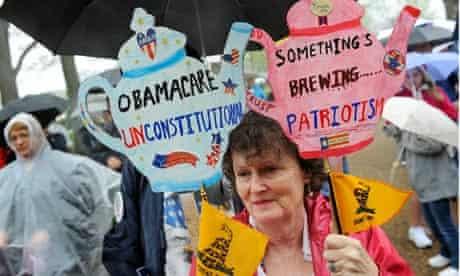 A Tea Party rally in Washington, March 2012.