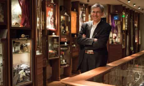 Orhan Pamuk in the Museum of Innocence