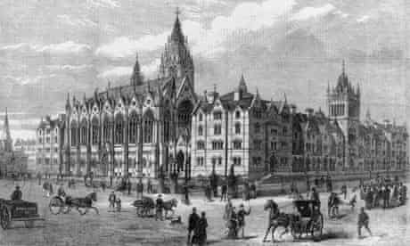 circa 1880:  Columbia Market at Bethnal Green, London
