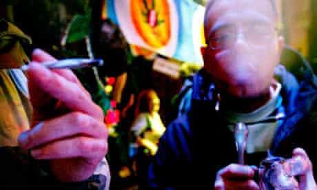 People smoke cannabis in Amsterdam