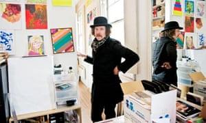 Martin Creed in his studio