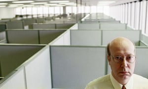 Lonely office man