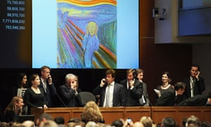 "Edvard Munch's ""The Scream"" Auctioned At Sotheby's"