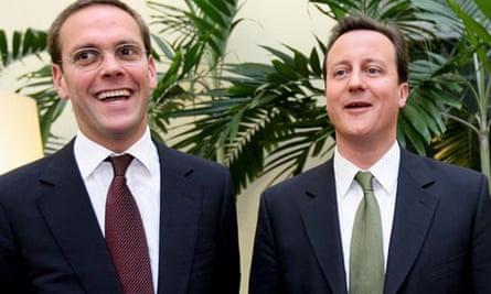 David Cameron and James Murdoch