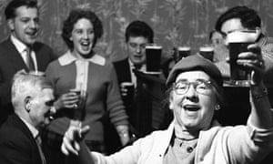 Singalong in a pub in 1961