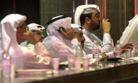 Traders at the Kuwait Stock Exchange, 1998