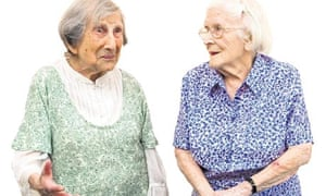 Hetty Bower, 106, and Peggy Megarry, 100
