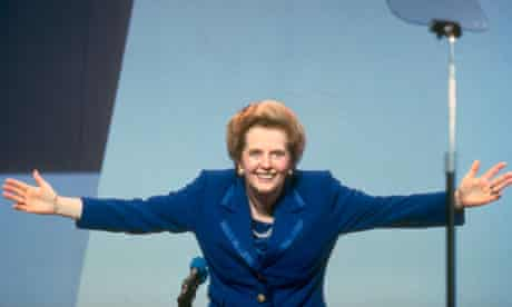 Margaret Thatcher at a Conservative party conference in 1990