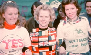 Thatcher campaigning for European integration in 1975