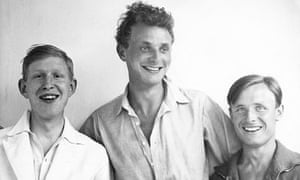 Stephen Spender with WH Auden and Christopher Isherwood in 1931.