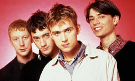 Blur, lefttoright: DaveRowntree, Graham Coxon, Damon Albarn and Alex James