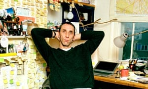Will Self in his writing room