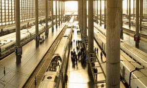 Madrid Atocha railway station.