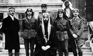 Emir Faisal and Lawrence of Arabia