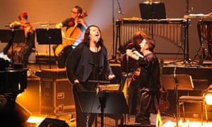 Antony Hegarty performing with Marc Almond at the Southbank Centre, London.