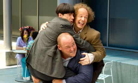 Chris Diamantopoulos, Sean Hayes and Will Sasso in The Three Stooges.