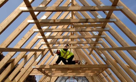 Roofer inspecting timbers