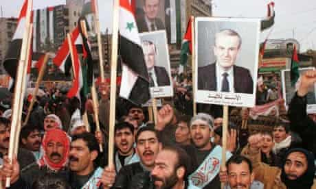 SYRIANS MARCH IN SUPPORT OF PRESIDENT ASSAD.