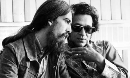 George Harrison with Ravi Shankar, 1970