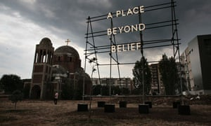 Nathan Coley's A Place Beyond Belief in Pristina