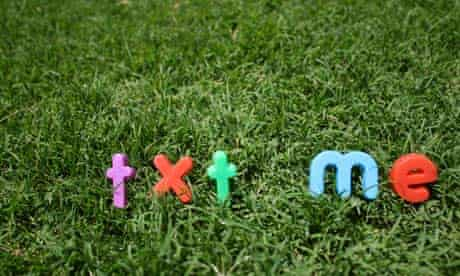 txt me in colourful letters