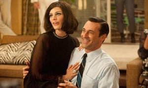 Jessica Pare and Jon Hamm in Mad Men